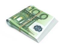 100 euro banconote Fotografia Stock
