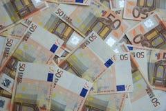 50 euro banconote Fotografia Stock Libera da Diritti