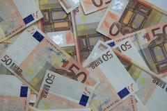 50 euro banconote Immagini Stock Libere da Diritti