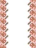 Euro banconote. Background.10 verticale. Immagini Stock Libere da Diritti