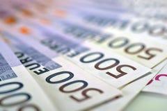 500 euro banconote dei soldi Fotografie Stock Libere da Diritti