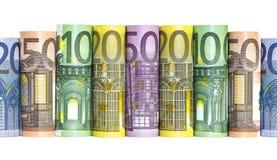Euro banconote dei soldi immagine stock