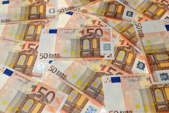Euro banconote dei soldi Immagine Stock Libera da Diritti