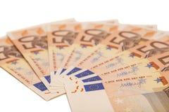 Euro banconote dei soldi Euro 50 Fotografie Stock Libere da Diritti