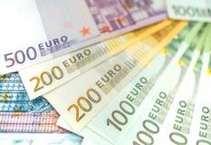 Euro banconote dei soldi, mucchio di euro banconote di carta Immagine Stock Libera da Diritti