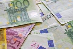 Euro banconote di carta dei soldi Fotografia Stock Libera da Diritti