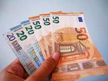 Euro banconote di valuta Fotografia Stock