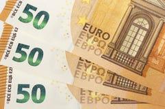 Euro banconote di valuta europea Immagini Stock