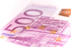 Euro banconote, fine su Fotografia Stock Libera da Diritti