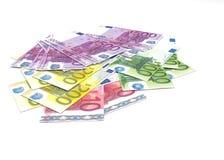 Euro banconote - moneta a corso legale dell'Unione Europea Fotografia Stock