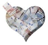 Euro banconote sbriciolate Immagini Stock Libere da Diritti