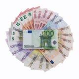 Euro banconote sul tema delle roulette Immagini Stock Libere da Diritti