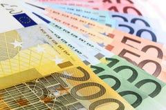Euro banconote (ventilatore) immagine stock libera da diritti