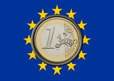 Euro- bandeira Fotografia de Stock Royalty Free