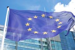 Euro bandierina Fotografia Stock Libera da Diritti