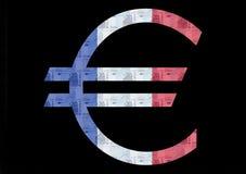 Euro bandierina francese Fotografie Stock