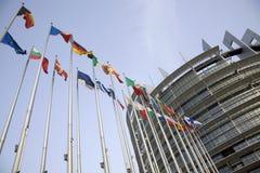 Euro bandierine Fotografia Stock Libera da Diritti