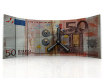 Euro bank. Safety  and Security euro bank Royalty Free Stock Image