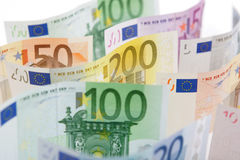 Euro bank notes Royalty Free Stock Photo