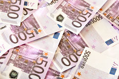 Euro bank notes Stock Images