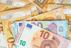 Euro bank notes background Stock Photography