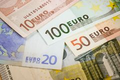 Euro bank notes. European currency money, euro bank notes, financial concept Royalty Free Stock Images