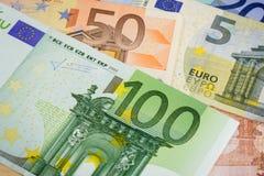 Euro bank notes. European currency money, euro bank notes, financial concept Stock Images