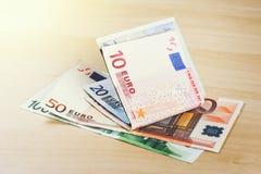 Euro bank notes. European currency money, euro bank notes, financial concept Royalty Free Stock Photo