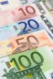 Euro bank notes. European currency money, euro bank notes, financial concept Stock Photography