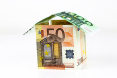 Euro bank notes House Royalty Free Stock Images
