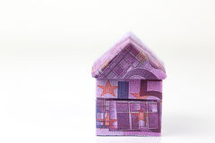 Euro bank notes House Royalty Free Stock Image