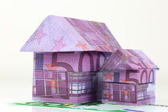 Euro bank notes House Stock Photo