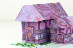 Euro bank notes House Stock Images