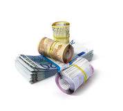 Euro bank notes Royalty Free Stock Photography