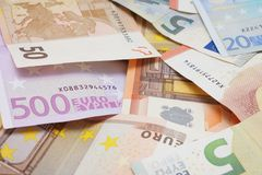 Euro bank notes Stock Photos