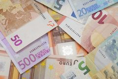 Euro bank notes Royalty Free Stock Photography