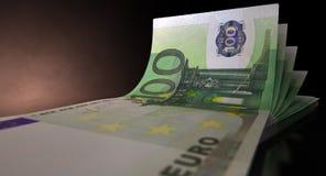 Euro Bank Notes Spread Royalty Free Stock Photos