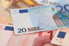 Euro Bank Notes Royalty Free Stock Images