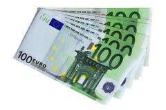 Euro bank notes. A stack of euro bank notes Stock Photography