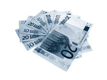 Euro bank notes on white Stock Photography