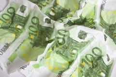 Euro bankbiljet stock foto