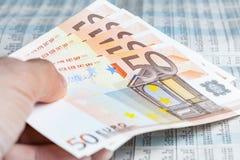 Euro bankbiljet Stock Foto's