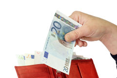 Euro bankbiljet twintig Stock Fotografie