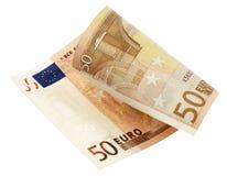 Euro bankbiljet vijftig Stock Foto's