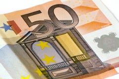 Euro bankbiljet vijftig Stock Foto