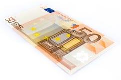 Euro Bankbiljet vijftig Stock Afbeeldingen