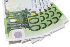Euro 100 bankbiljetten Stock Fotografie