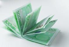 100 euro Bankbiljetten Stock Fotografie