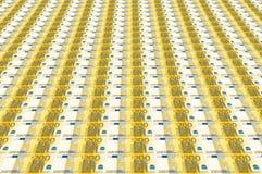 Euro bankbiljetten Stock Afbeeldingen