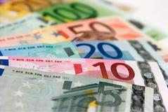 Euro bankbiljetten Stock Afbeelding